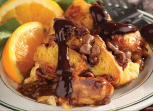 Chocolate Crescent Bread Pudding