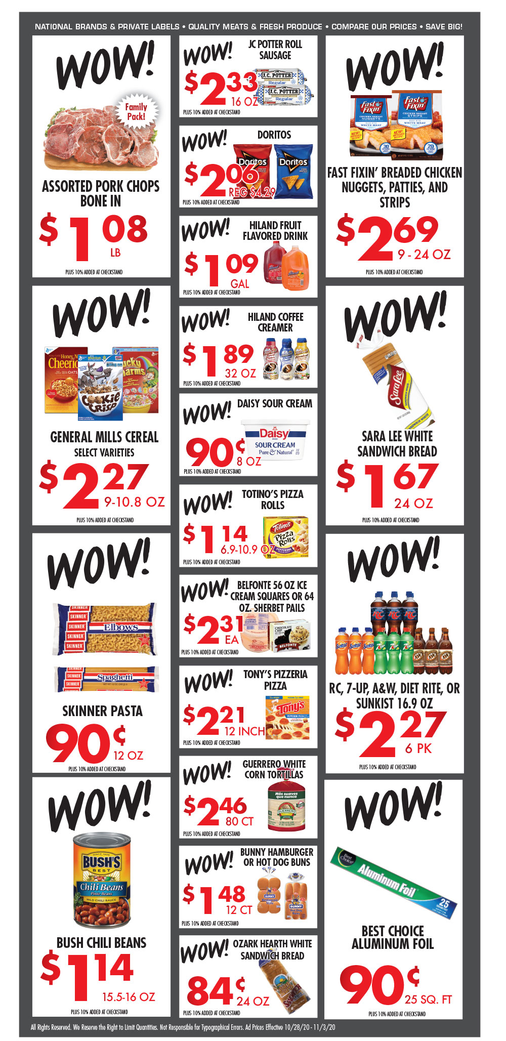 Cox Cash Saver specials for week of 10-28-20