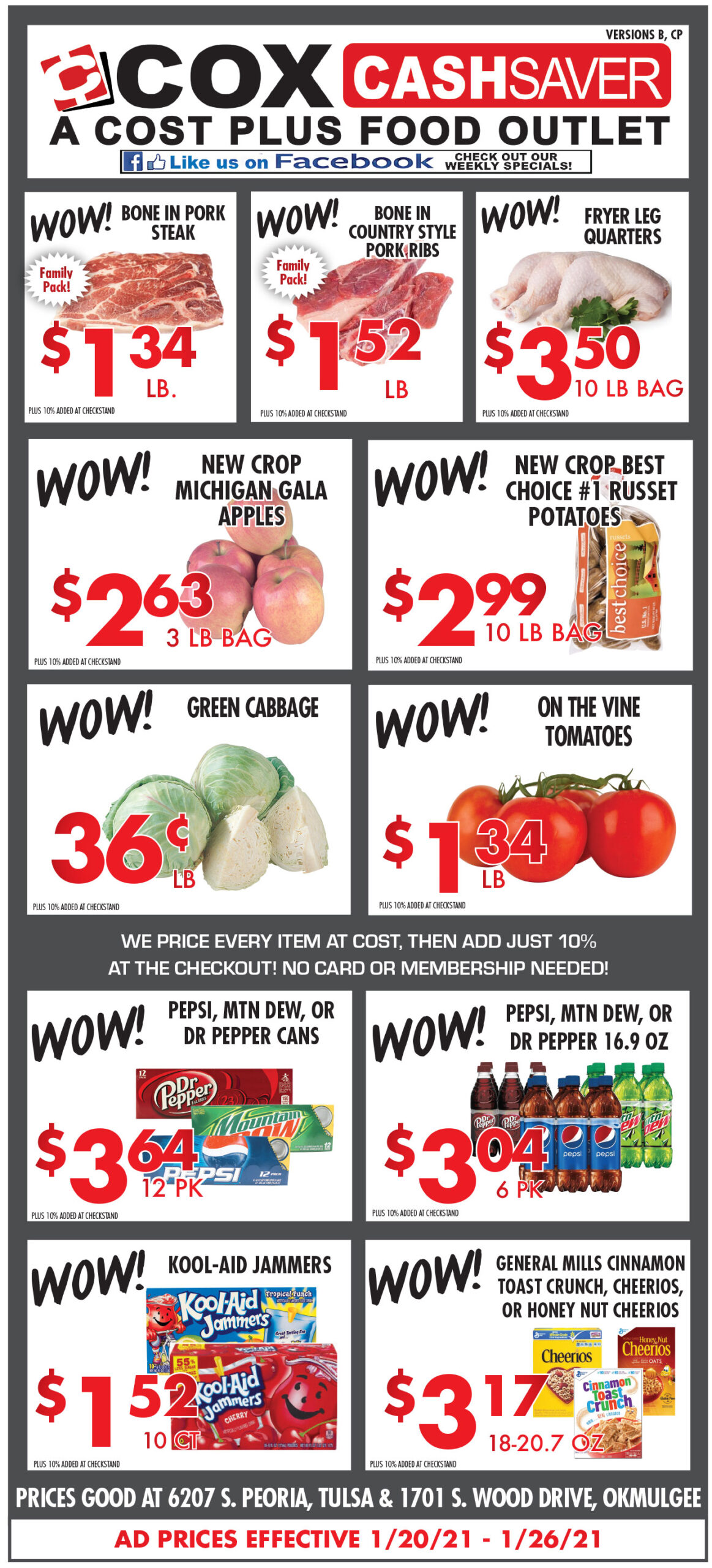 Cox Cash Saver specials for week of 1-20-21
